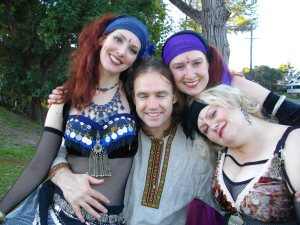 Belly dancers supportive