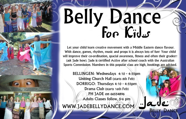 Jade belly dance childrens classes for primary aged kids