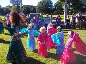Jade Belly Dance girls dance up a storm in Bellingen