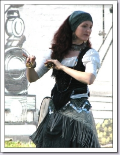 Jade Belly dancing at Medieval Day Coffs harbour