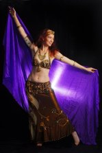 Jade Australian belly dancer with veil