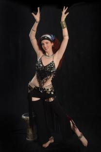 Belly dancer with drum