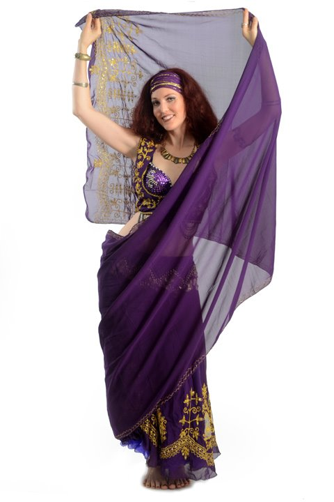 Belly dancer jade with Veil