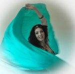 Jade Green veil Bellydancer