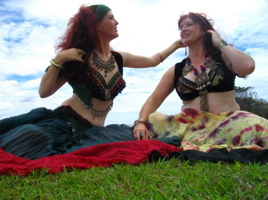 Bellydancers at the beach woolgoolga