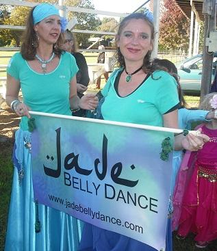 Jade Belly Dance students at World Belly Dance Day, Bellingen 2011