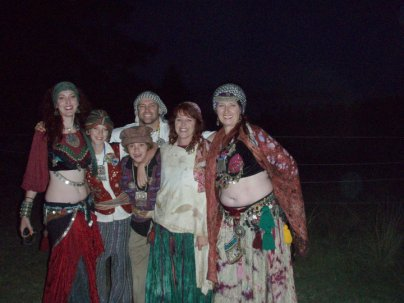 Jade Belly Dance students and drummers at the gathering, Armidale