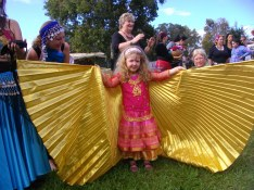 Jade Belly Dance student at World Belly Dance Day, Bellingen 2010