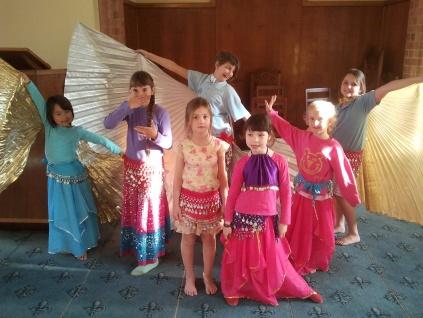 Jade Belly Dance Students - children's class