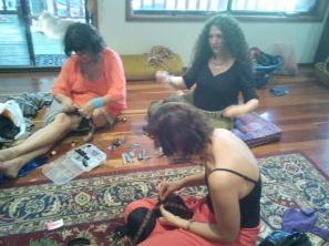 Jade Belly Dance Students bra making workshop