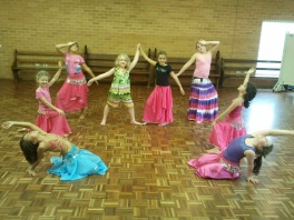 Jade Belly Dance Childrens Class pose
