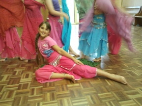 Jade Belly Dance Kids Class posing