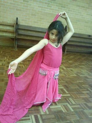 Jade Belly Dance Kids Class pose