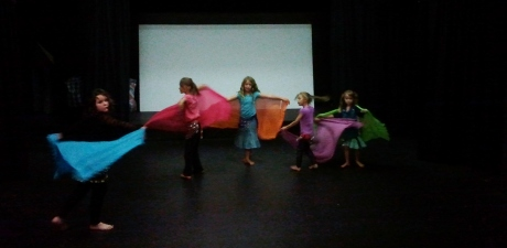 Jade Belly Dance Kids Class beginners with veil