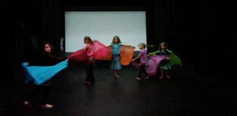 Jade Belly Dance Kids Class beginners with veil