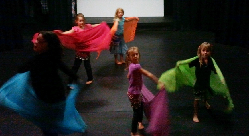 Jade Belly Dance Kids Class veil spin