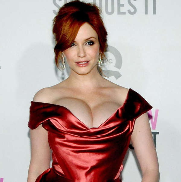 Christina Hendricks Boobs Natural