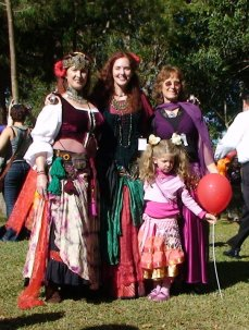 Jade Belly Dance students at save the hospital rally, Bellingen