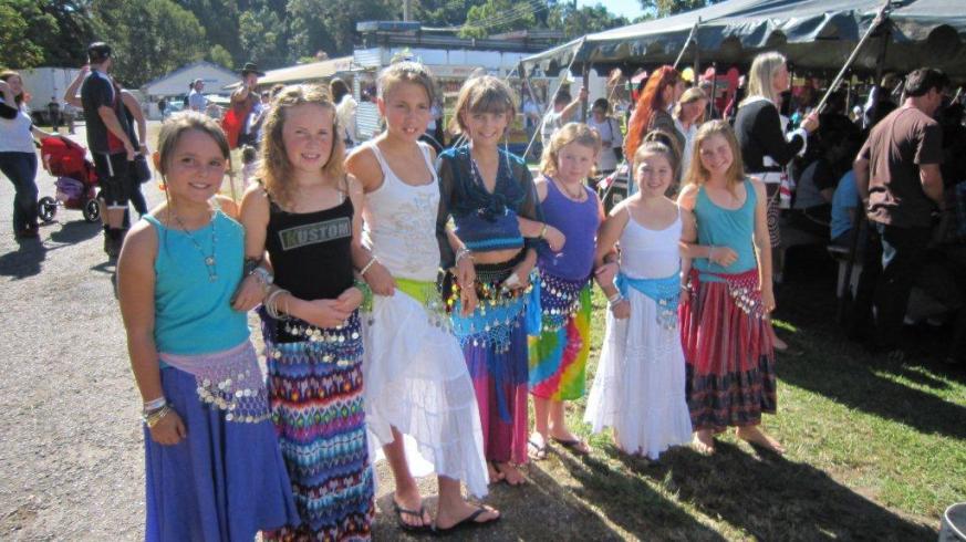 Jade Belly Dance students at Bellingen Show, Bellingen 2011