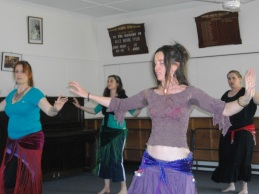 Concentrating Hard at Tribal with a smile workshop