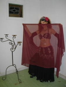 Jade Belly Dance with veil