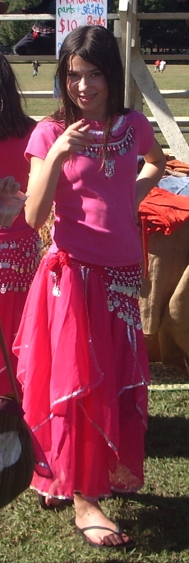 Pink belly dance girl