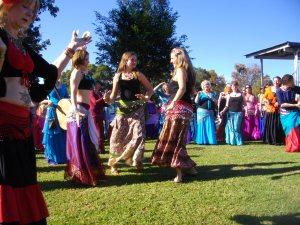 parade improvisation at world belly dance day