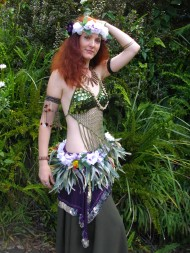 Home made costume but still pretty great - I have now made a new bra for this costume that matches the skirt and belt even better.