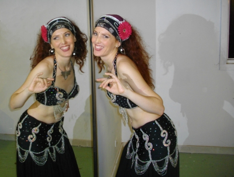 Belly Dancer in Mirror