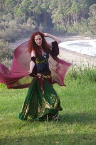 Belly dancing on the coast