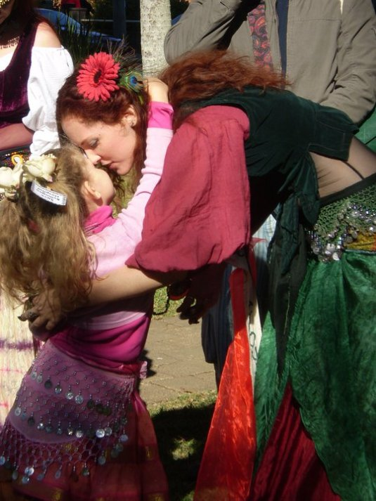 Mother and Daughter belly dance