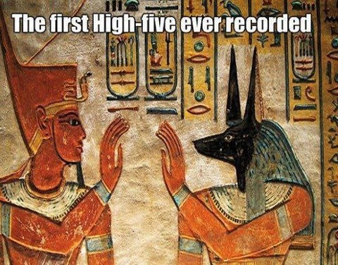 high five egyptian style