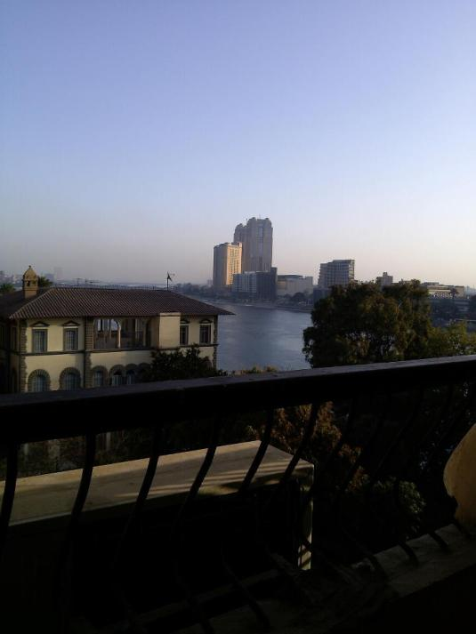 View of the Nile from Margaret's hotel