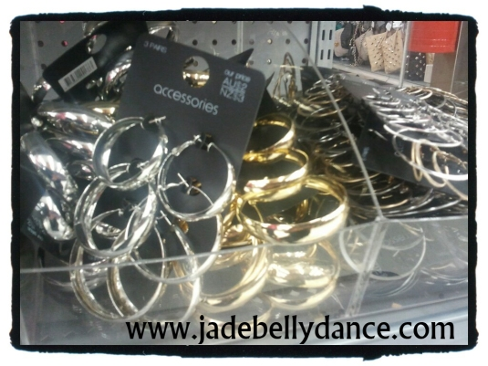 $2 AUD (or $3 NZ) for 3 pairs of hoops! These can work for most styles of bellydance.
