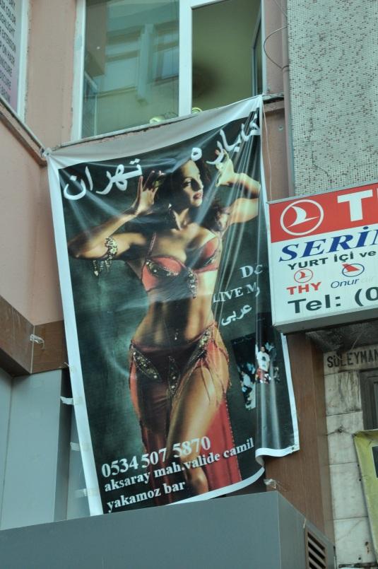 Bellydancer banner Istanbul