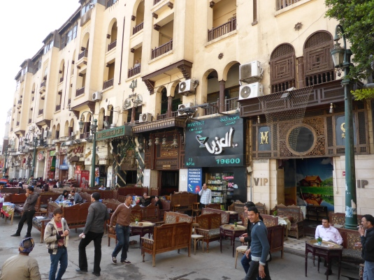 Cafe's at the entrance to Khan El Khalili